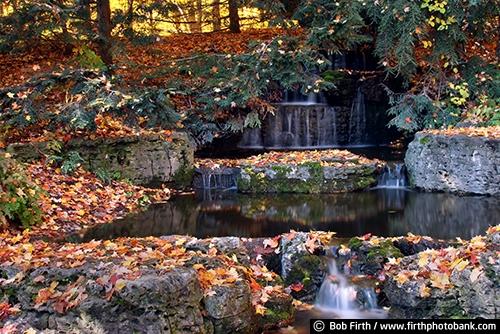 University of Minnesota Landscape Arboretum;Chaska Minnesota;autumn;fall  foliage;fall color - Waterfall And Fall Foliage MN Landscape Arboretum 0416