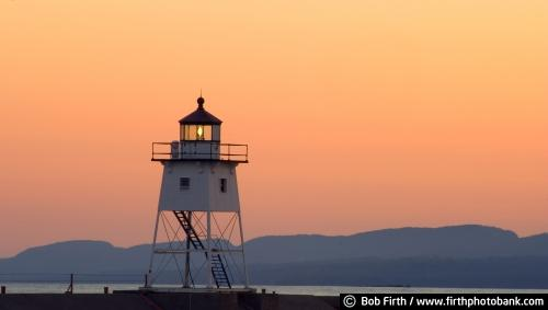 beacon;Grand Marais;Lake Superior;Minnesota;mood;North Shore;orange sky;Sawtooth Mountains;sunset;MN