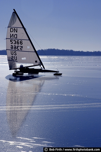 ice boating;ice boat;ice sailing;MN;Minnesota;winter sports;recreation;outdoors;outside;Lake Minnetonka;frozen lake;sail;fun pastime
