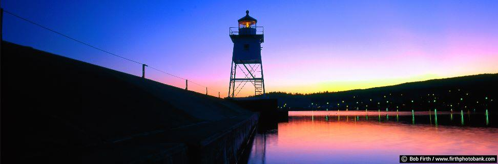 Grand Marais Lighthouse at Sunset