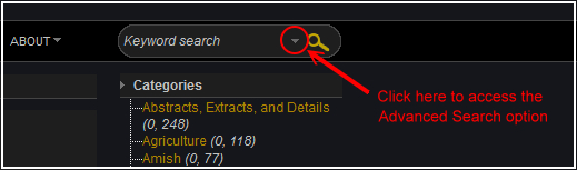 Locating Advance Search Option